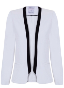 chaqueta blanco black and white