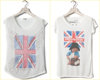 Camiseta Pull and Bear london style union jack