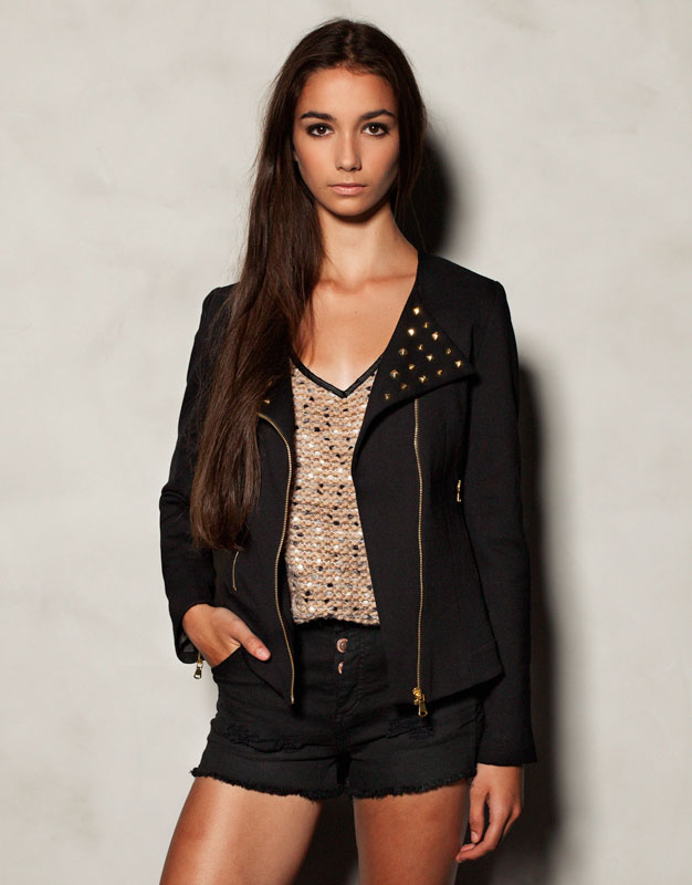 Chaqueta piel mujer pull and bear