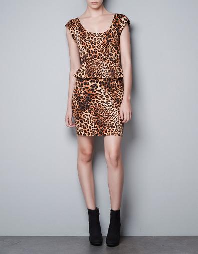vestido print animal zara