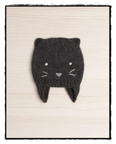 gorro invierno gato oysho