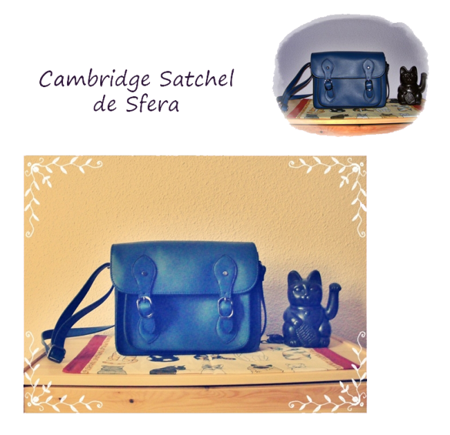 satchel sfera azul bolso escolar