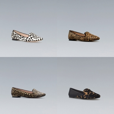 slippers zara print animal