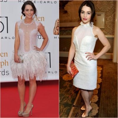 emilia clarke vestido blanco