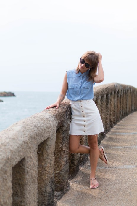 Chemise-rayée-et-jupe-trapéze-summer-time-in-biarritz-SP4NK-BLOG
